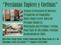 Persianas Tapices y Cortinas