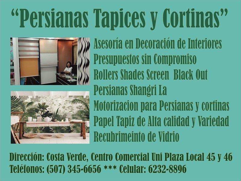 Persianas Tapices y Cortinas